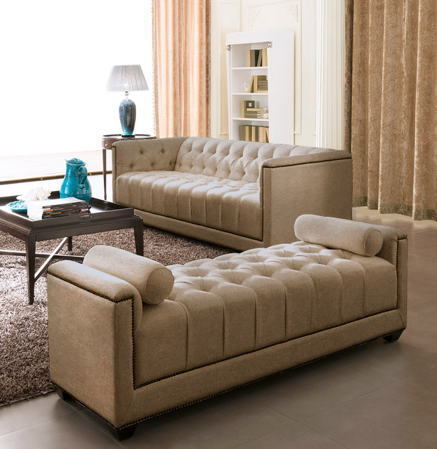 Eden Gold Modern Sofa Set Living Room Furniture Sets