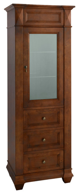 Ronbow Torino Curio Cabinet, Colonial Cherry - Traditional - Bathroom Cabinets And Shelves - by ...