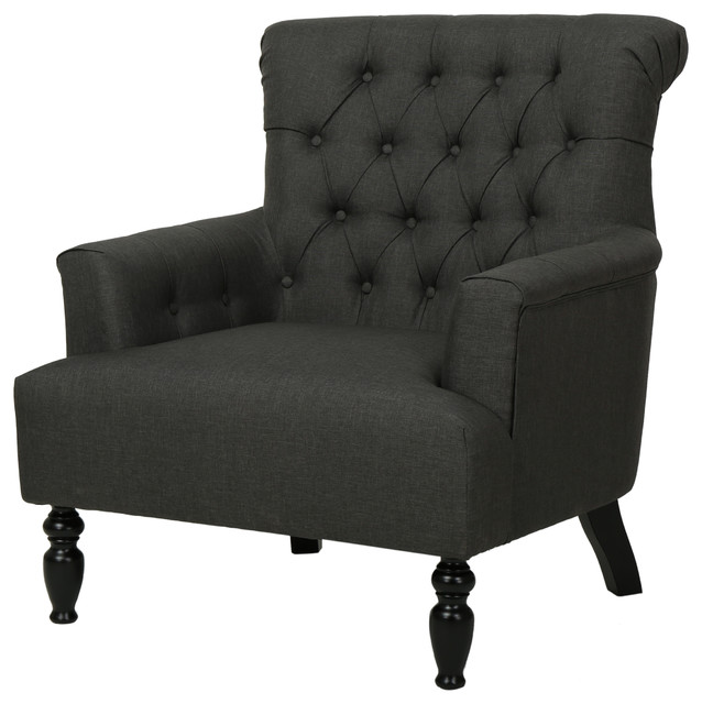 Delicieux Harvey Dark Gray Fabric Club Chair