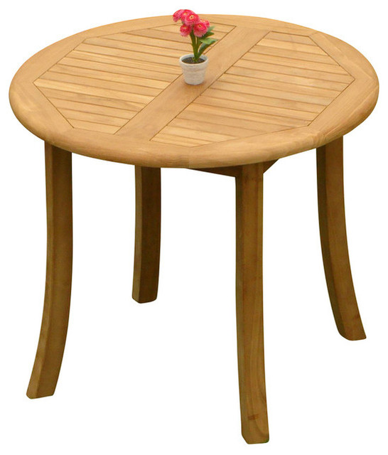 36 Round Dining Outdoor Teak Table