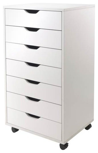 Halifax Cabinet For Closet/office - 7 Drawers White
