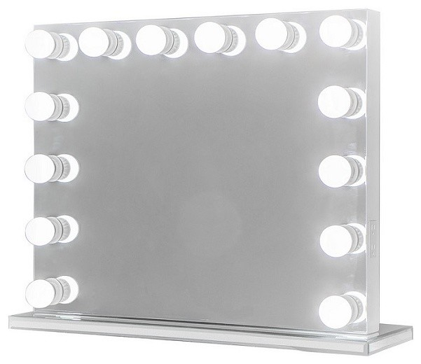 Xl Frameless Hollywood Lighted Vanity Mirror, Dimmer. -1