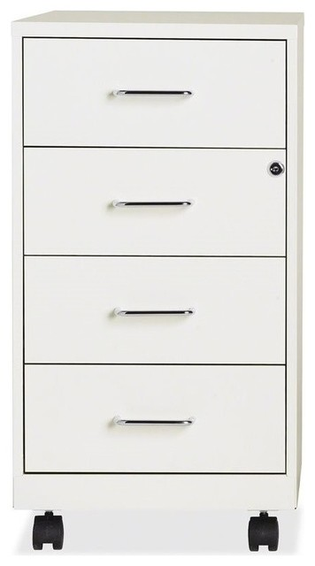 Hirsh Industries 4-Drawer Steel File Cabinet, Pearl White - Contemporary - Storage Cabinets - by ...