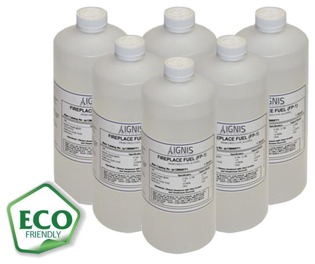 Ignis Bio Ethanol Fireplace Fuel - 6 Bottles.