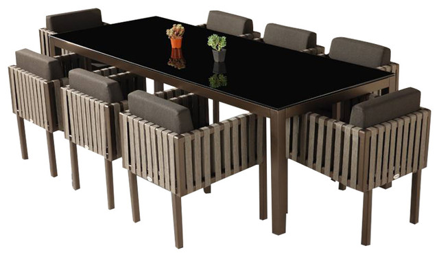 Amber Modern Outdoor Dining Set For 8