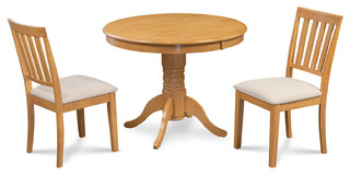 Brookline 36 Round Kitchen Dining Table Set W Soft Padded Seats 3