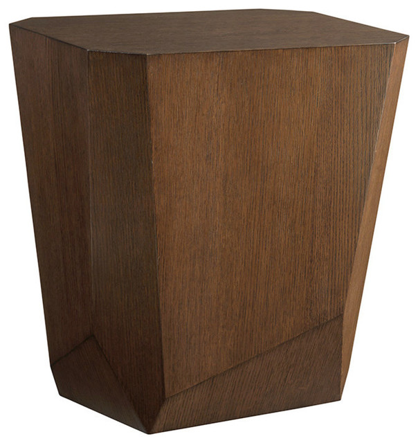 Tangent Faceted Accent Table.