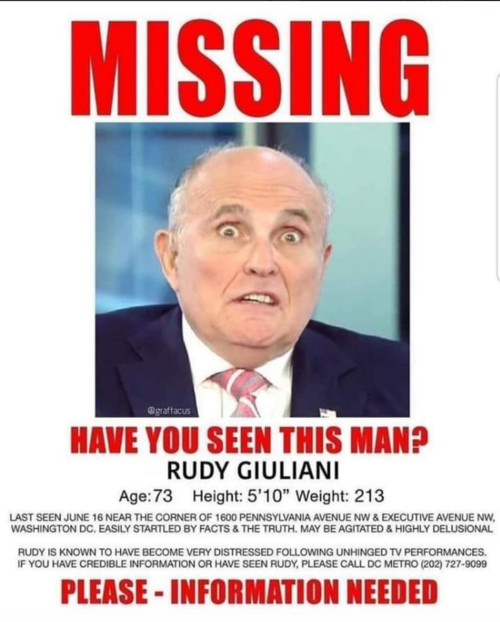Image result for rudy giuliani missing