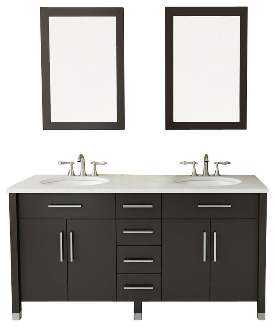 "59"" Rana Double Sink Bathroom Vanity"