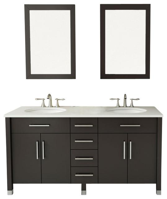 "59"" Rana Double Sink Bathroom Vanity"