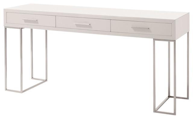 J M Furniture Sg02 Modern Office Desk, White Modern Office Desk