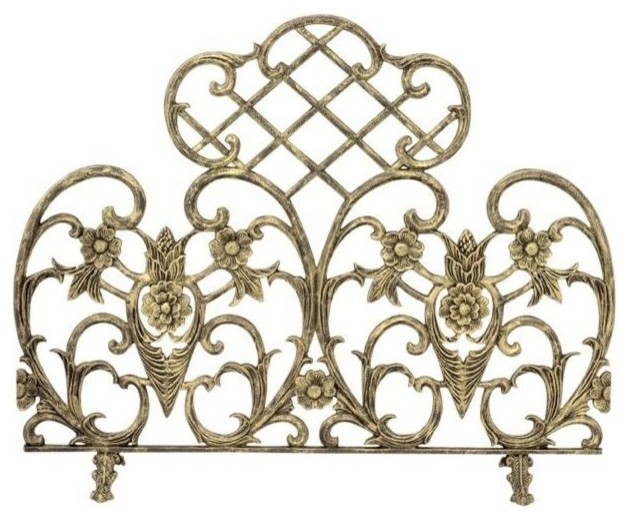Antique Gold Cast Screen