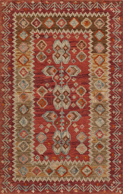 tangier handhooked rug red - Rustic Area Rugs