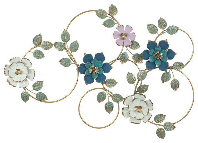 Kamea Metal Flower Wall Decor Contemporary Metal Wall Art By Aspire Home Accents Inc