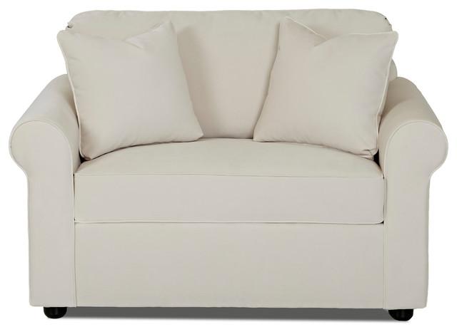 ottawa chair sleeper sofa, oakley ivory - transitional - sleeper