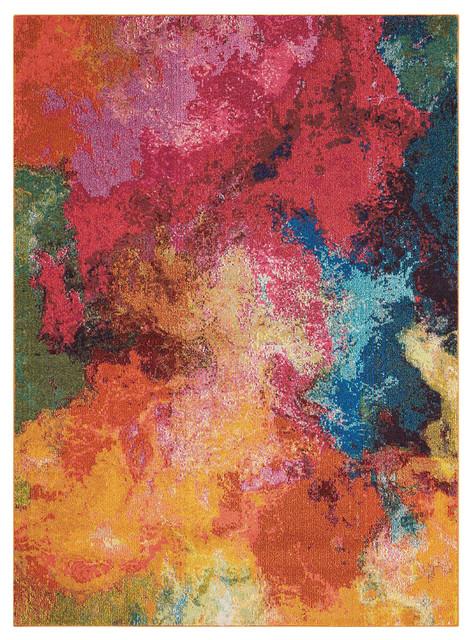 """Nourison Celestial Ces04 Palette 7&x27;10"""" X 10&x27;6"""" Rug."""
