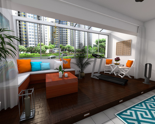 Sun Roof Balcony Ubi Estate Maisonette Singapore By