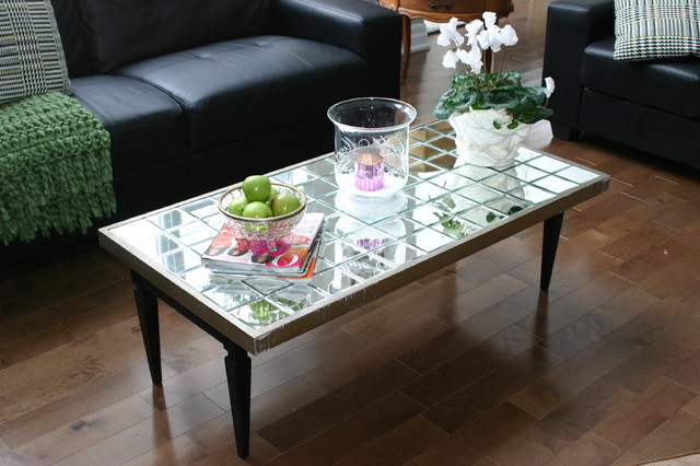 Superior DIY Mirrored Coffee Table Eclectic