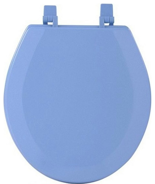 Standard Round Penny Resin Toilet Seat Eclectic Toilet Seats By Brown