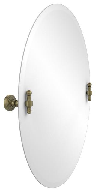 """Bathroom Mirrors Oval Tilt Mirror 21""""x29"""" oval tilt mirror - transitional - bathroom mirrors -"""