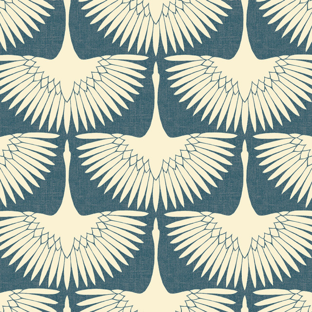 Genevieve Gorder Feather Flock Peel And Stick Wallpaper Contemporary Wallpaper By Tempaper