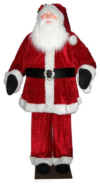 6' Red Velvet Standing Or Sitting Santa