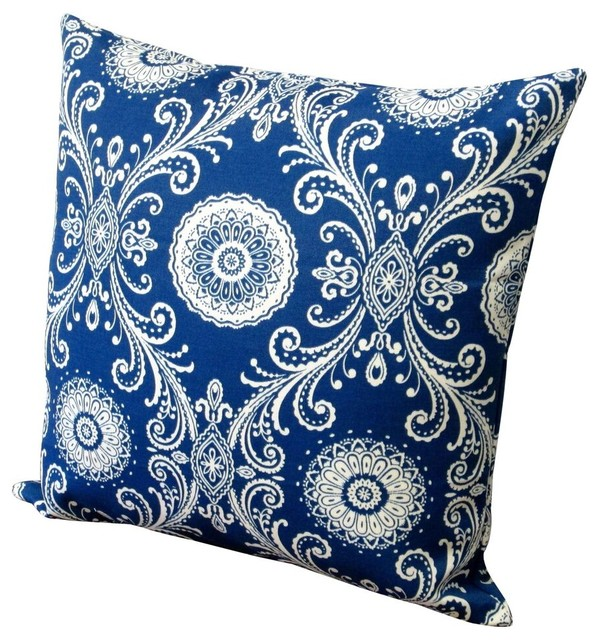 Modern Blue Outdoor Pillows : Artisan Pillows - Outdoor 18