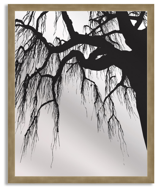 Gallery Direct Oak in Silhouette Art Mirror with Bronze Frame ...