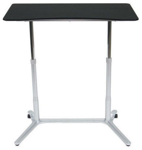 Modern Ergonomic Sit Down Stand Up Desk Black Finish