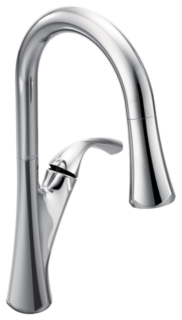 Moen Notch Chrome One-Handle Pulldown Kitchen Faucet 9124C