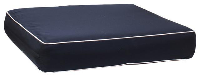 Madrid Boxed Seat Cushion, Blue