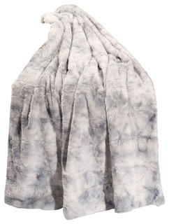 Tie-Dye Faux Fur Throw, Blue