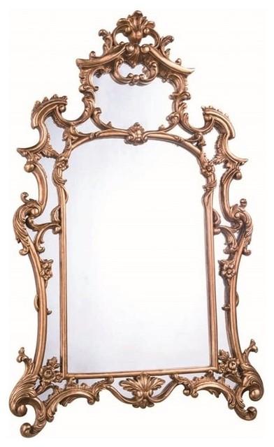 """Elegant Lighting Antique Decorative Mirror In Gold Leaf, 28.75""""."""