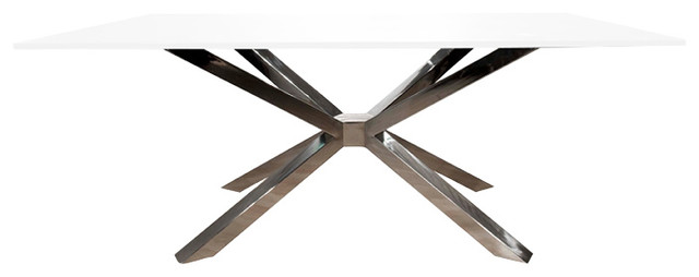 Mantis Rectangle Dining Table Base, Stainless Steel Contemporary Table  Tops And