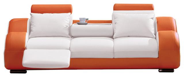Contemporary Sofa, White and Orange - Contemporary - Sofas - by ...