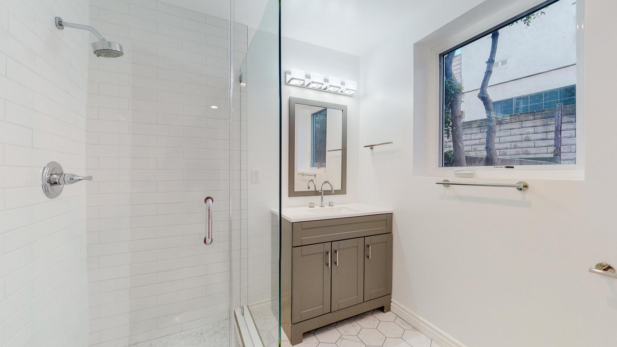Full Interior Remodel studio ADU bathroom