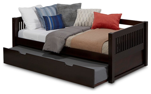 Camaflexi Twin Day Bed With Twin Trundle Mission Headboard