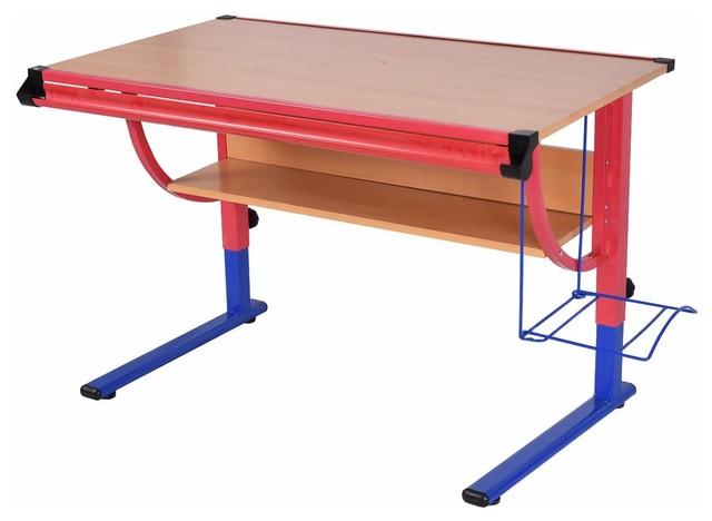 Adjustable Wooden Modern Style Drafting Table Workstation Drawing Desk.