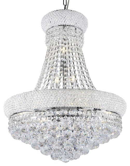 26 Tall Ceiling Led Lamp Adagio Empire With Crystal Accents Chandeliers By Ore International