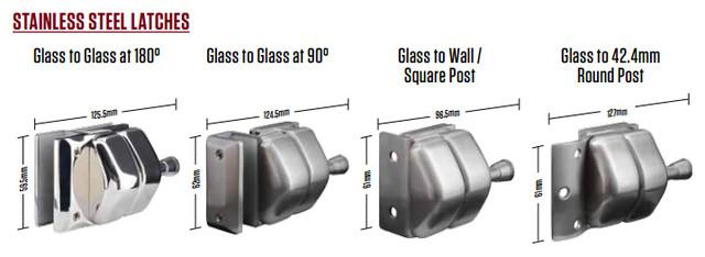 full stainless steel pool fence glass latch locks