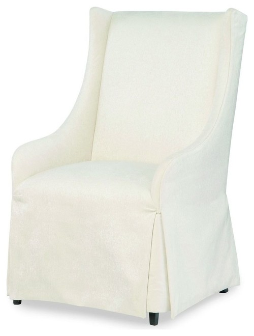 Legacy Classic Symphony Upholstered Host Chair. When You Need the Perfect Linen Slipcovered Chairs & Linen Upholstered Seating...certainly a lovely collection of options indeed.