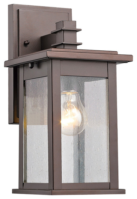 """Chloe Lighting Tristan 1-Light Rubbed Bronze Outdoor Wall Sconce, 12"""""""
