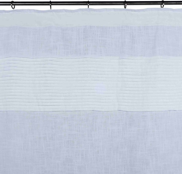 "Curtain Carlton, White, 57.1""x110.2""."