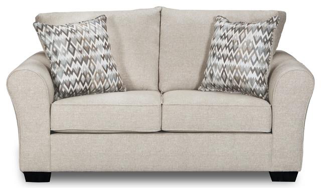 Simmons Upholstery Boston Linen Loveseat.