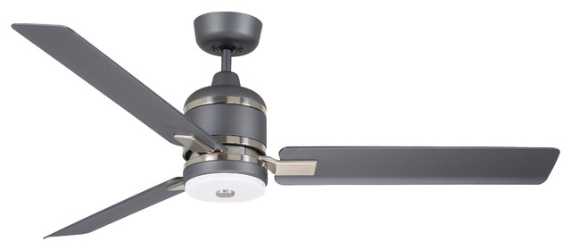 "Emerson Ideal 54"" Ceiling Fan, Graphite With Led Light."