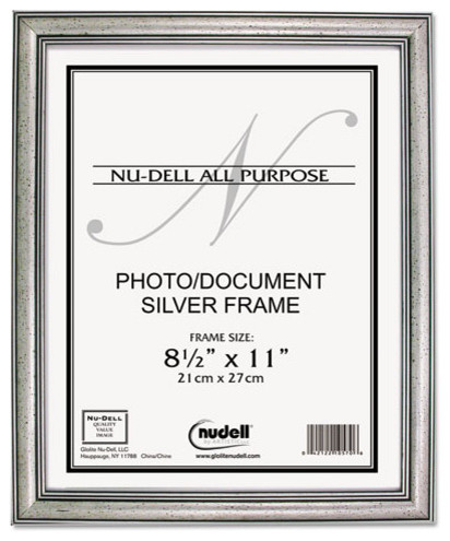 nudell antique silver finish wood frame 8 12 x 11 contemporary picture