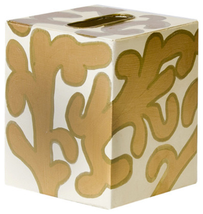 Worlds away kleenex contemporary bathroom accessories for Cream and gold bathroom accessories
