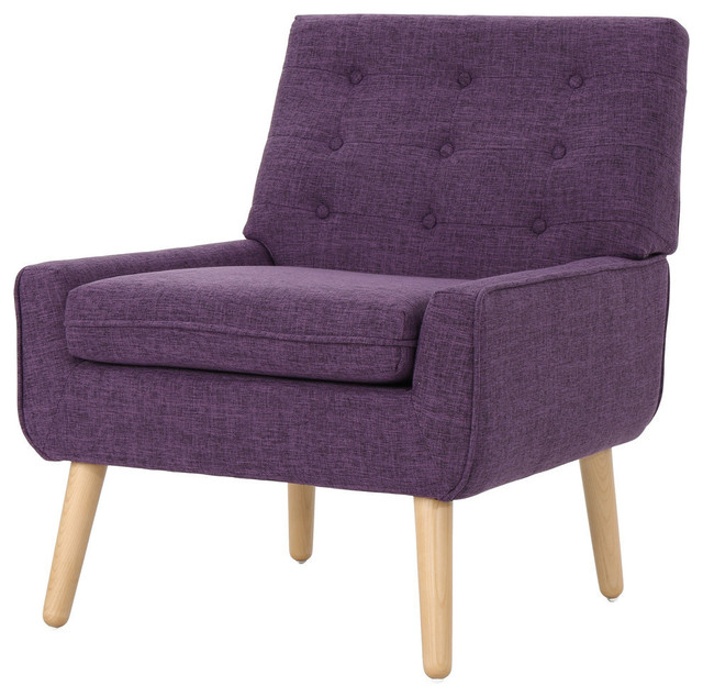 Excellent Gdf Studio Ella Buttoned Mid Century Modern Muted Purple Fabric Club Chair Gamerscity Chair Design For Home Gamerscityorg