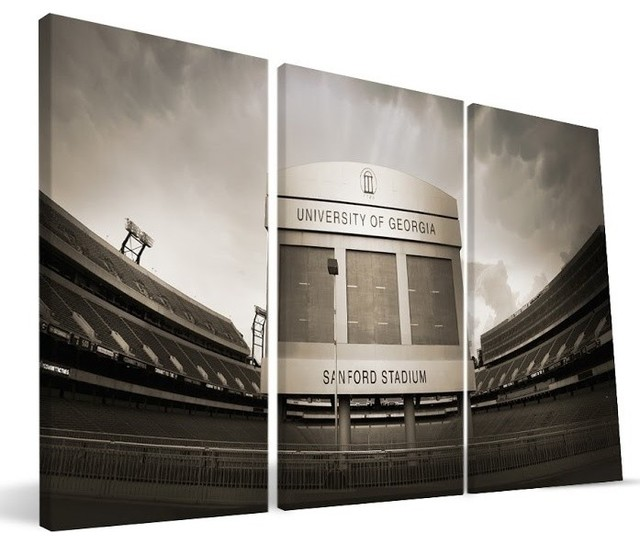 "University Of Georgia Bulldogs Sanford Stadium Canvas Print, 24""x48""."