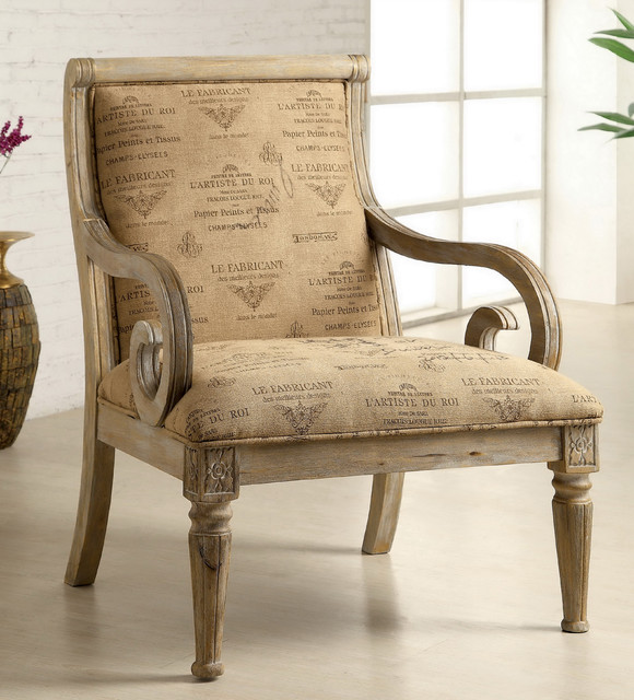 whitewash wood furniture furniture of america fran script fabric whitewash  solid wood accent chair contemporary armchairs ...